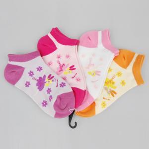 Best Comfy Cotton + Spandex + Nylon Pink / Orange / Purple Novelty Little Girls Ankle Socks wholesale