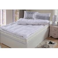 Best King Size Hotel Mettress Topper Four - Corner Elastic Feather Cotton / Polyester wholesale
