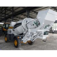 China 500 Liters Self Loading Mobile Concrete Mixer With Pump Hydraulic System on sale