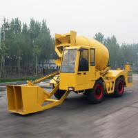 Best Double Cone Roll Concrete Construction Equipment , 1.2m3 Self - Feeding Concrete Mixers 55kw 4500kg wholesale