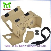 Best Brown Virtual Reality Cardboard Box , Cardboard VR Box 3D Glasses wholesale