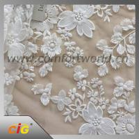 China Cotton Nylon Spandex  Embroidered Lace Trimming Fabric For Garment / DIY Craft on sale