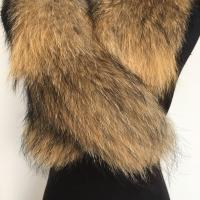 Cheap Extra Large Raccoon Furry Necks Collars , Warm Dyed Winter Coat Replacement Fur for sale