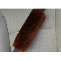 Cheap Warm Soft Washable Sheepskin Seat Belt Strap Covers For Car / Truck / Auto for sale