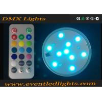Best Illuminate 3 Inch LED Light Base For Wedding Centerpiece / Glass Cup , No Flicker wholesale
