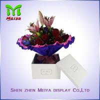 Best Custom Square Flower Gift Packaging Boxes With Logo Foil Stamping wholesale