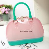 Best Buy small clear transparant pvc zipper shell bag for ladies wholesale