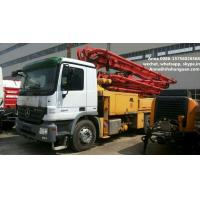 Best 300 Kw Used Concrete Pump Truck Mounted Concrete Pump With Benz Truck Chassis wholesale