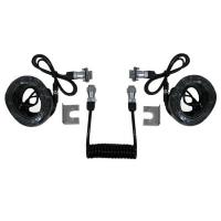 Best 7 Pin Trailer Curly Backup Camera Cable , Video Audio Spring Coiled Electrical Wire wholesale
