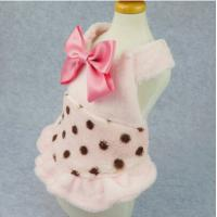 Best Winter Pet Dog Puppy Wedding Dresses Clothes With Bows Party Clothes wholesale