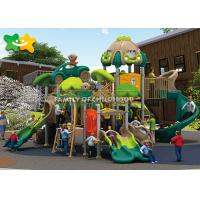 China Commercial Plastic Playground Slide Rotational Molding LLDEP Galvanized Steel on sale