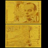 Best France Gold Plated Banknotes , 24K Gold Plated For Wedding Decoration wholesale