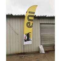 Cheap Single Sided Bow advertising feather flags with black cross base and pvc water for sale