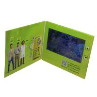 China A5 Size LCD Video Card , 500mA Battery LCD Video Business Cards 7 Inch on sale