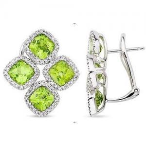 Best Peridot & Diamond earring wholesale
