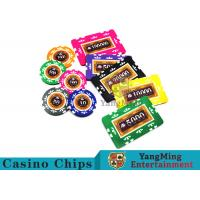 Entertainment 12g 760pcs Custom Poker Chip Sets With Anti - Off Film Protection