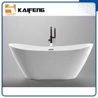 Cheap 1800mm Long Oval Freestanding Tub With Pop - Up Drain Customized Color for sale