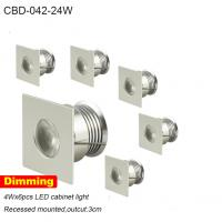 Best mini high power modern design dimmable round set led cabinet light 24w wholesale