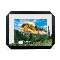 Cheap Eco-friendly 30x40CM 5D Lenticular Printing Services With PS Black Frame For Home / Hotel for sale