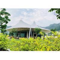 Best White Luxury Resort Tents , Double Pagoda UV Protection Fabric High Mountain Tent wholesale