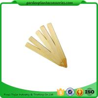 Cheap Vegetable Bamboo Garden Plant Markers , Natural Wood Garden Stakes for sale