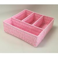 Best rope woven tray, 100% handwoven rectangle home storage basket with paper material,office storage box,storage bin wholesale