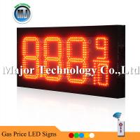 Best 8inch 8.88 9/10 Red Color Waterproof RF Remote Control Pertol LED Price Sign Board wholesale