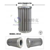 Best Stainless Steel Mesh Gas In Air Filter , Pleated DN40 Natural Gas Line Filter  wholesale