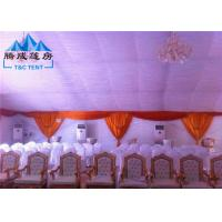 Cheap 20m Width Fire Retardant A Shaped White Wedding Event Tents / Outdoor Wedding Reception Tent for sale