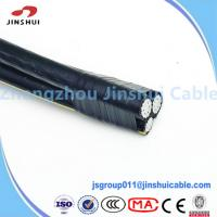 Cheap 0.6 / 1KV Aluminum Conductor Service Drop Cable Duplex Wire Icea S 61 402 for sale