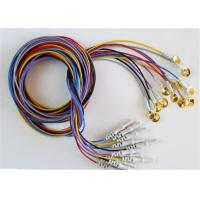 Best Colorful EEG Cables With Sliver Plating Cup Electrodes Shielding Wire Optional wholesale