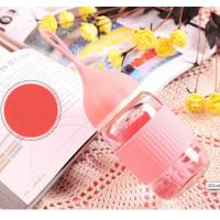 Best Pink Heat Resistance Borosilicate Glass Feeding Bottle For Baby Daily Drinking wholesale