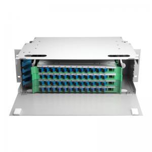 Best Outdoor 48 Port ODF Optical Distribution Frame IP66 Mild Steel Fiber Optic Patch Panel wholesale