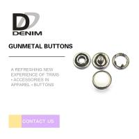 Best 10mm Gunmetal Pearl Snap Buttons Metal Decorative For Jeans Parts wholesale