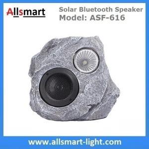 Solar Bluetooth Speaker Solar Resin Stone loudspeaker lamp Lighting for Outdoor Garden Patio Backyard Park