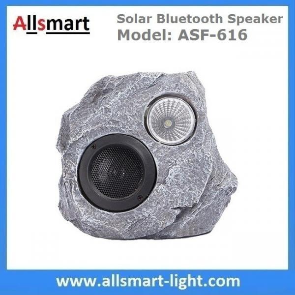 Cheap Solar Bluetooth Speaker Solar Resin Stone loudspeaker lamp Lighting for Outdoor Garden Patio Backyard Park for sale