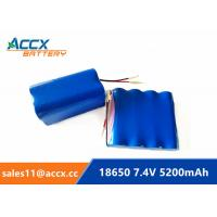 Cheap li-ion 18650 battery pack 7.4V 5000mAh 5200mAh rechargeable battery with PCM protection 5C discharge for sale