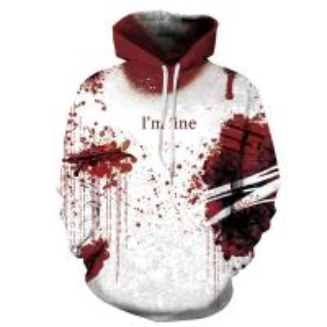 Best Unisex Hoodies Binmer Mens Women I'm Fine Halloween Sweatshirt Long Sleeve Casual Hooded Pullover Tops wholesale