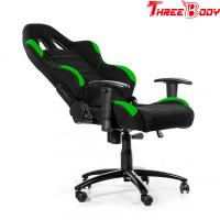 Best Comfortable High End Gaming Chair , Green And Black Race Car Office Chair wholesale