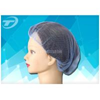 """Single use nylon hairnet  20 """", soft and breathable , white , black and blue color"""