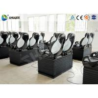 Best Black Luxury Seats 7D Movie Theater Genuine Leather Fiberglass Interactive Games wholesale