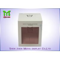 Best Recycled C1s Crown Gift Packaging Boxes With Pvc Window , Two Sides Printing wholesale