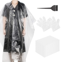 Best SGS LDPE Disposable Hair Cutting Capes For Barbershop wholesale