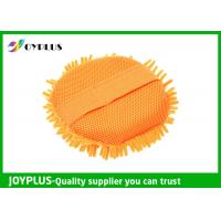 Best Eco Friendly Chenille Car Wash Pad , Chenille Microfiber Wash Mitt JOYPLUS wholesale