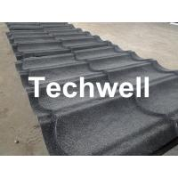 Best Sand Metal Stone Coated Roof Tile Machine , Steel Roof Tile Production Line wholesale