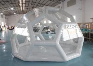 Best Outdoor Portable 4m Air Sealed Clear Transparent PVC Inflatable Soccer Bubble Camping Tent wholesale