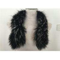 Best Handmade Black Real Raccon Fur Scarf , 80cm Length Fur Neck Warmer wholesale