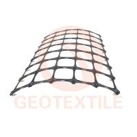 China Black Biaxial Soil Stabilization Grid , 3.9m * 100m Pp Woven Geotextile on sale
