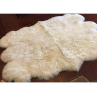 Best Long Hair Small Sheepskin For Chair , Luxury Silky Fleece Home Shag Area Rugs wholesale