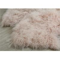 Cheap Tibetan Sheepskin Throw Blanket , Mongolian Fur Throw Blanket For Winter Coat for sale